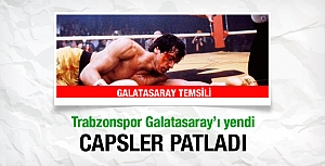 Galatasaray Trabzon'a yenildi, capsler patladı