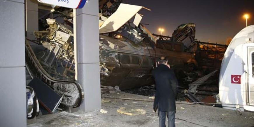 Ankara'da tren kazası; 9 ölü