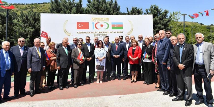 Azerbaycan 100. Yıl Parkı Maltepe'de açıldı
