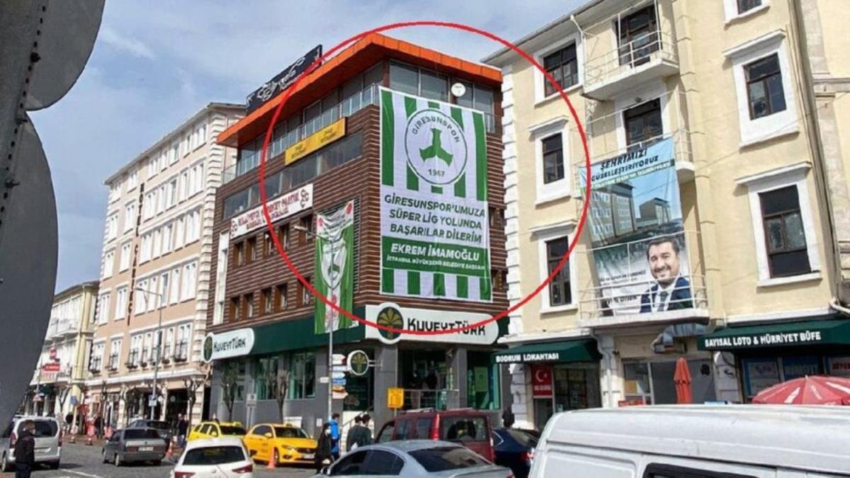 Giresun'da Ekrem İmamoğlu pankartı krizi
