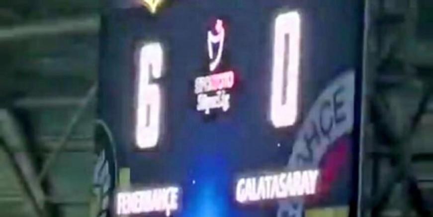 Fenerbahçe maçında olay görüntü!
