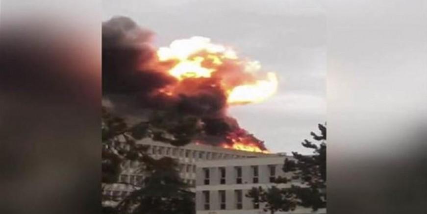 Fransa'da doğal gaz patlaması