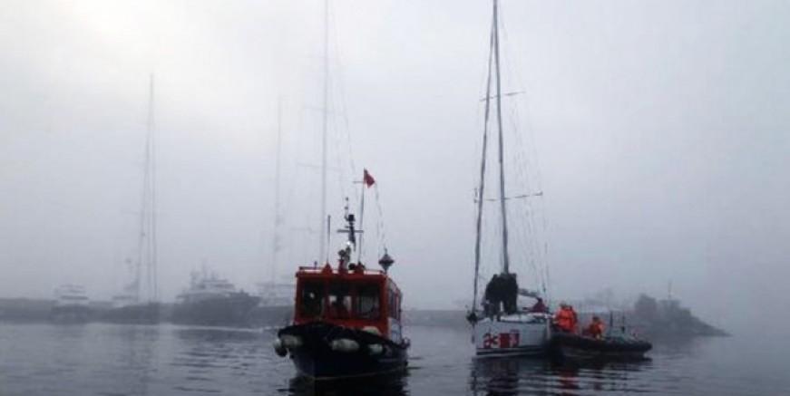 Heybeliada'da tekne kurtarma operasyonu