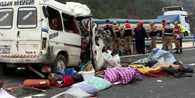 Kahramanmaraş'ta feci kaza: 9 ölü