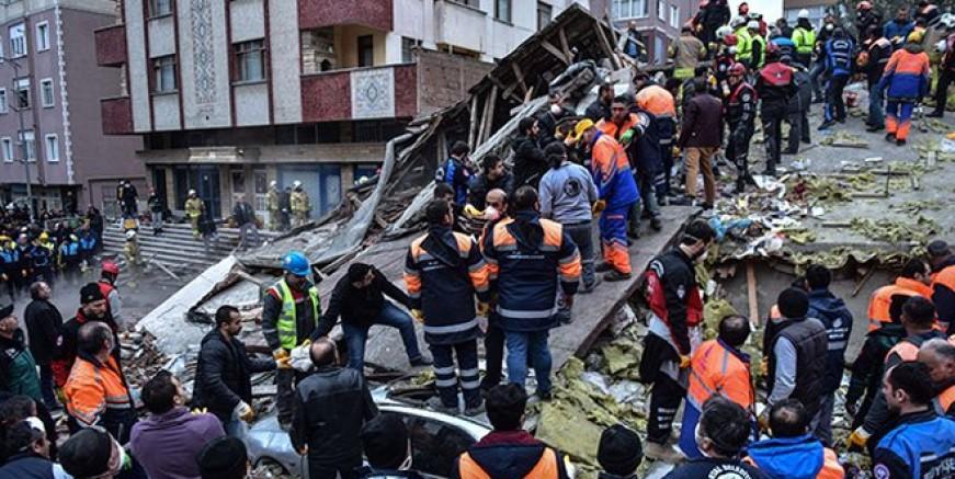 Kartal'da çöken binada 11 kişi hayatını kaybetti
