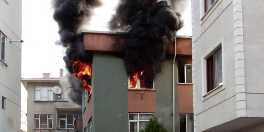 Kartal'da yangın faciası ucuz atlatıldı