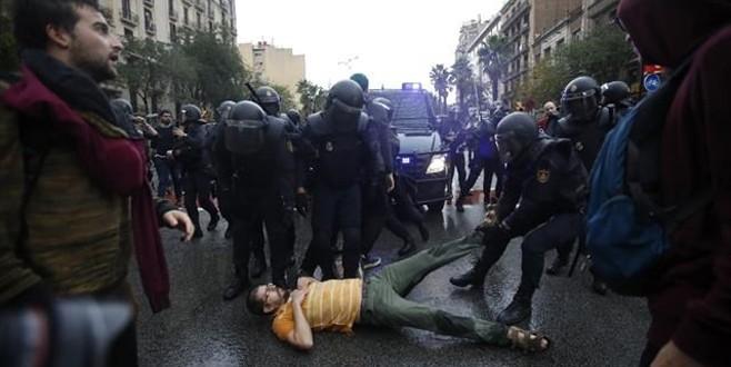 Katalonya sokakları savaş alanına döndü