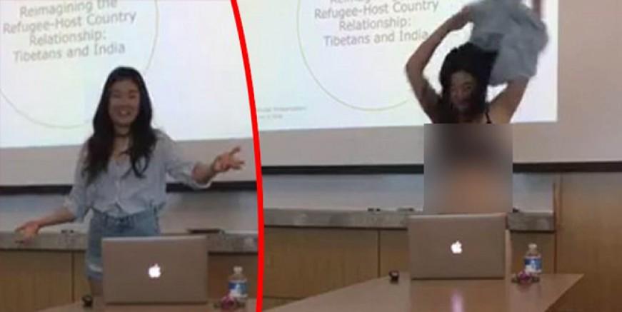 Letitia Chai hocasına kızıp sınıfta soyundu!