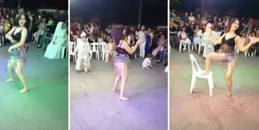 O dansöz gözaltına alındı