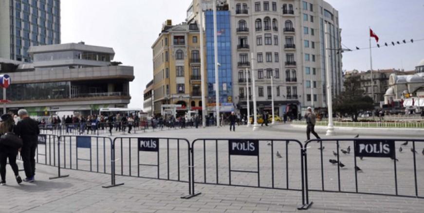 Polis Taksim'de CHP eylemine izin vermedi