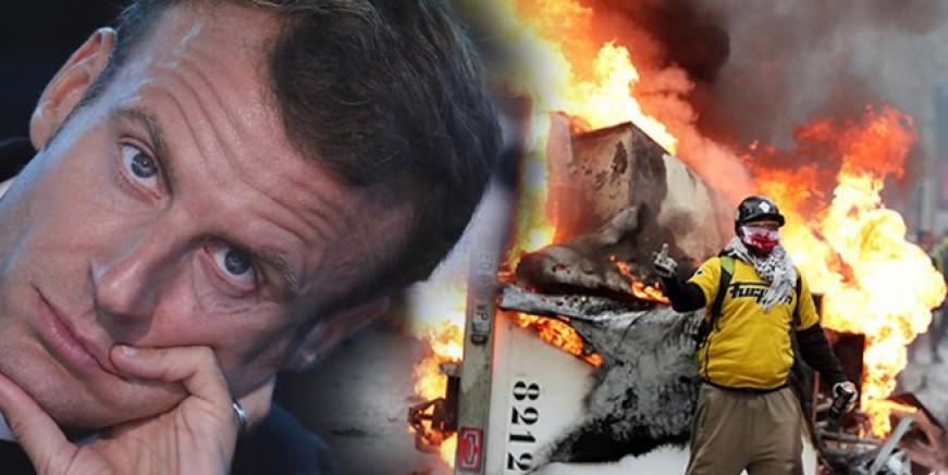 'Sarı yelekliler' Macron'u dize getirdi