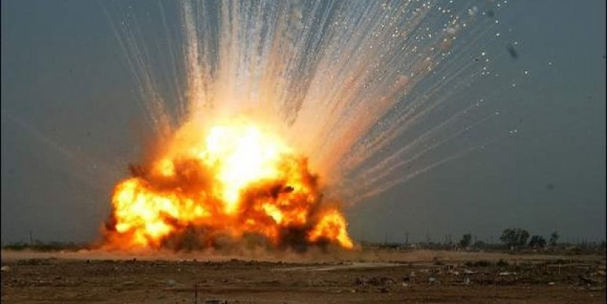 Ukrayna'da cephanelik patladı!