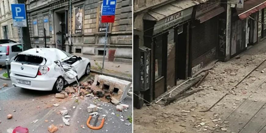 Zagreb'de 5,3 büyüklüğünde deprem